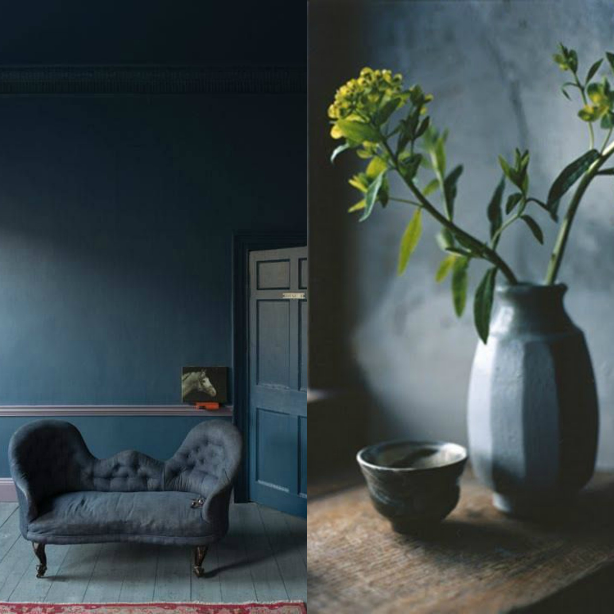 Eclectic Trends Color Trend Moody Blue Walls