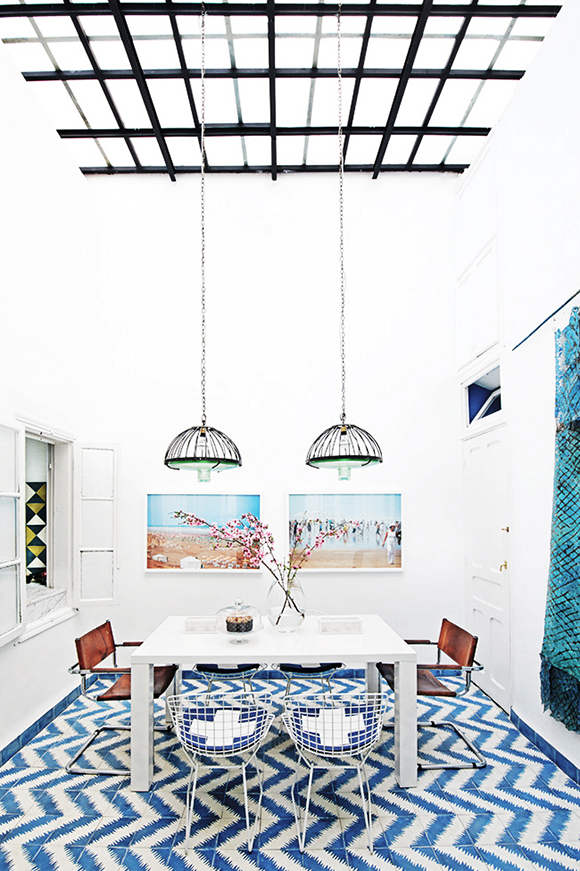 colorful Morroco home
