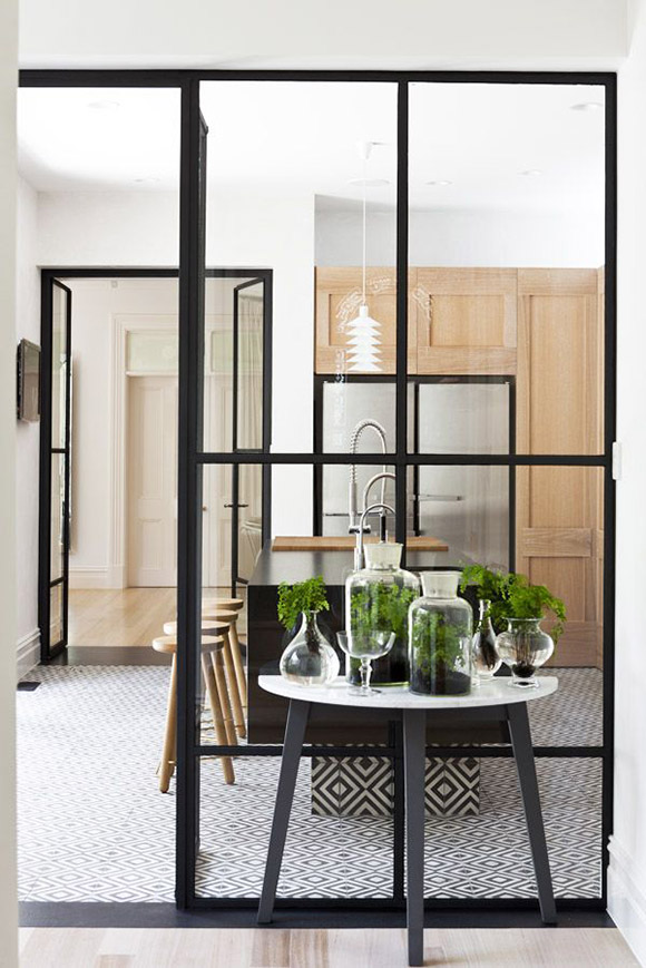 Eclectic Trends Micro Trend Black Metal Framed Windows Kitchen
