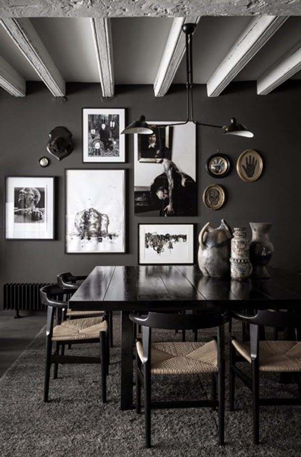 maison hand moody apartment art wall interior design - Eclectic Interior Design Blogs