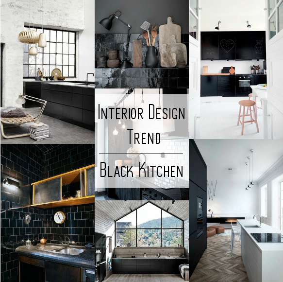Black kitchen design-Eclectic Trends
