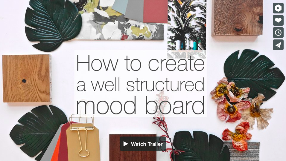 How to create a well structured mood board- The video course with Eclectic Trends