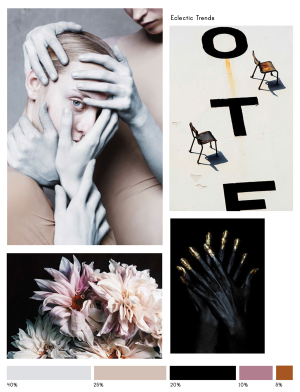 Color Inspiration No.11 - Pearl Grey, Powder, Black, Mauve & Pumpkin-Eclectic Trends