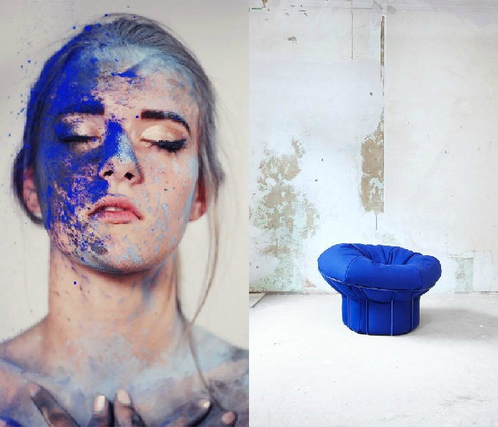 It's trending: 12 examples on how Klein Blue conquers the design world via Eclectic Trends