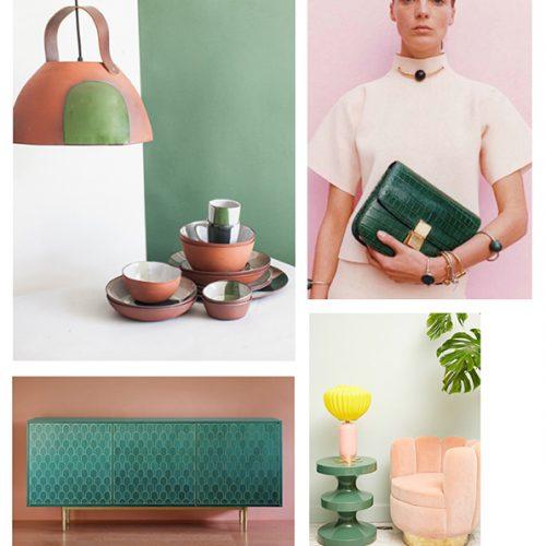 Color Inspiration No.15: Celadon, Basil, Terracotta, Rose and Sun