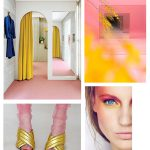 Color Inspiration No.16: Antique Rose, Canary, Rouge, Navy & Blue Gray