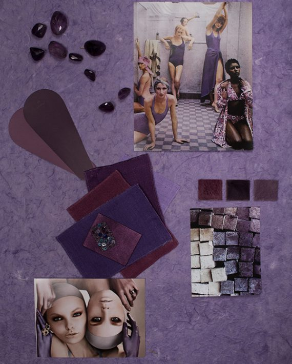 How to create a color mood board-The Violet Series via Eclectic Trends