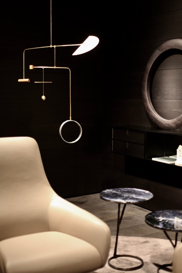 10 examples of Moody Interiors from the Salone del Mobile via Eclectic Trends