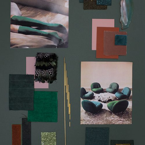 How to create a tone-on-tone mood board? The Green Series