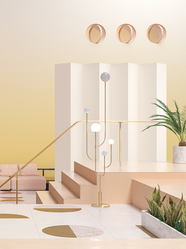 How to translate seasons into color in interior design concepts by Moli Studio via Eclectic Trends