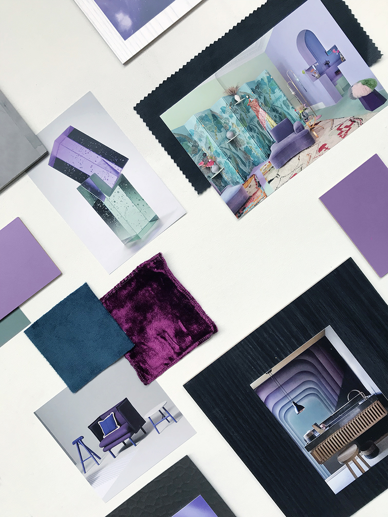Ultra Violet Mood Board by © Eclectic Trends for Fins
