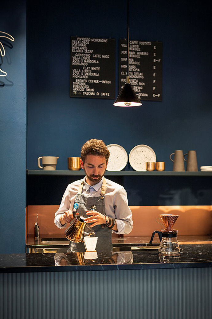 Eclectic Trends   Studiopepe interior design of Cafezal coffee shop in Milan