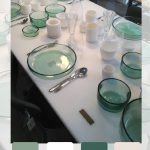 Travel treasures: table styling at Merci, Paris: which is your favorite set?