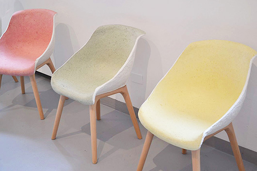 sorbet colours Pinwu bamboo paper chairs