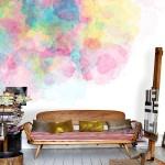 Watercolour trend on wallpaper