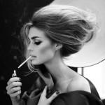 SWEET WOMAN  ENJOY  HER CIGARETE