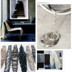 Color inspiration – blue, gray and white metals