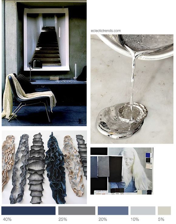 Color inspiration n#1- combining blue shades and white metal - Eclectic Trends