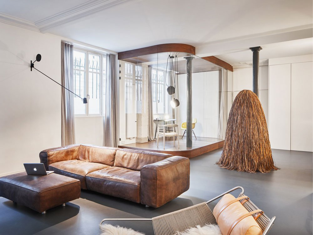 Glass-and-Walnut-Loft-in-Paris-by-CUT-Architectures-Eclectic Trends