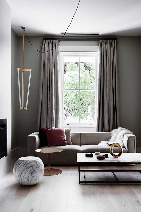 A simplified interior design in East Melbourne - Eclectic Trends