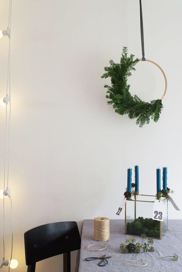 4 Christmas Trends 2015-Half wreath-Eclectic Trends4 Christmas Trends 2015-Half wreath-Eclectic Trends