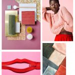 Color Inspiration No.14: Crepe, Rosé, Scarlet, Seaweed and Stone