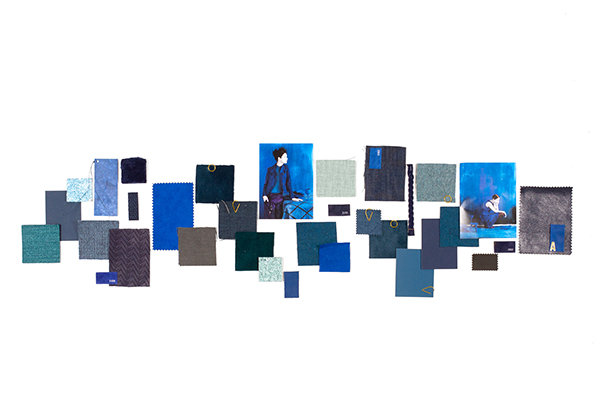 How to create a tone-on-tone color mood board? The Blue Series