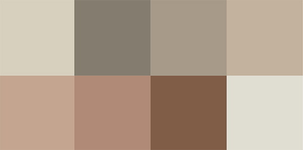 Jotun Colors 2018 Silent Serenity Palette via Eclectic Trends