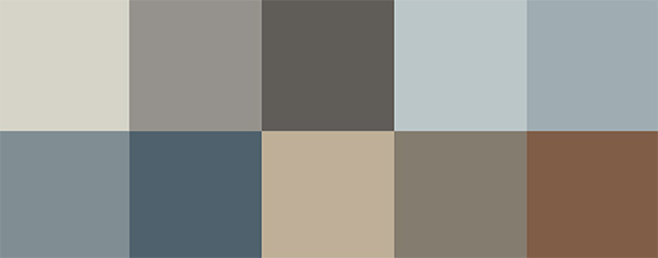 Jotun Colors 2018 City Motions Color Palette via Eclectic Trends