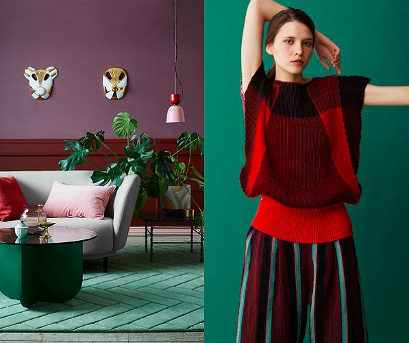When Interior Design Meets Fashion:Color Blocking