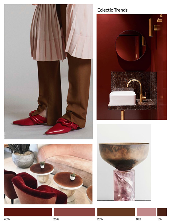 Color Inspiration No.21: Wine, Amaranth, Toffee, Mauve, Chocolate via Eclectic Trends