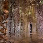 Rebecca Louise Law's suspended dried flowers installation