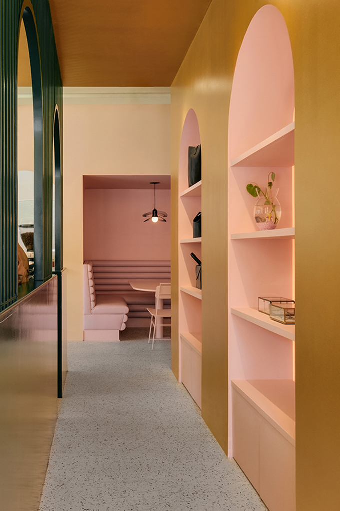 Eclectic Trends | The daring color-blocked interiors of Pastel Rita Café by Appareil Architecture