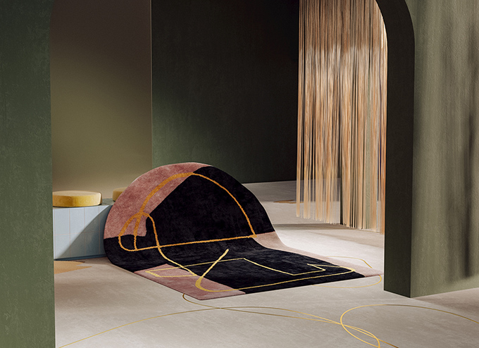 Eclectic Trends  Vibrant Metallic Rugs by Alex Proba