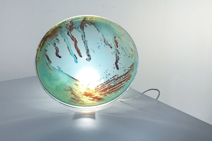 Eclectic Trends | Bacteria pattern for the new lamps by Jan Klingler