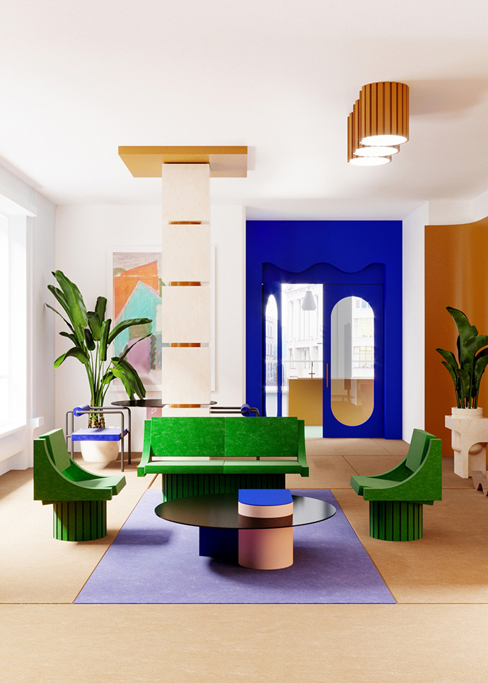 Eclectic Trends | The New Memphis apartment by Supaform Studio