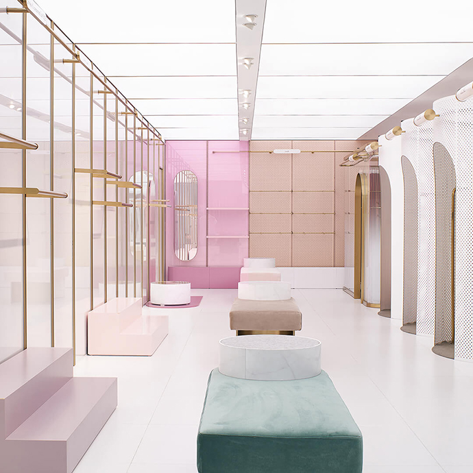 Eclectic Trends | The elegant and futuristic Heyshop store by Daylab Studio