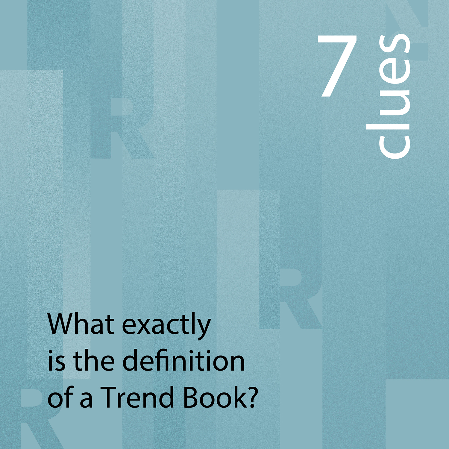 7 clues What exactly is a Trend Book | Eclectic Trends