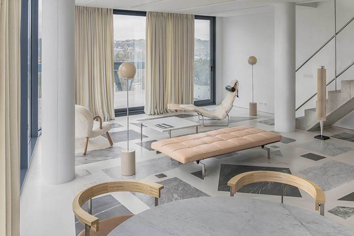 Eclectic Trends   The bold custom terrazzo floor by Do Architects