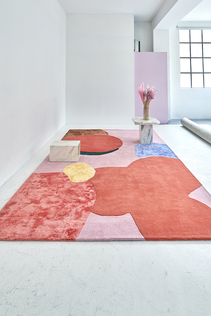 A dazzling rug collection by artist Poppykalas for Layered
