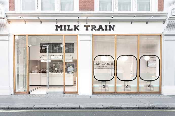The Instagrammable Milk Train shop by FormRoom
