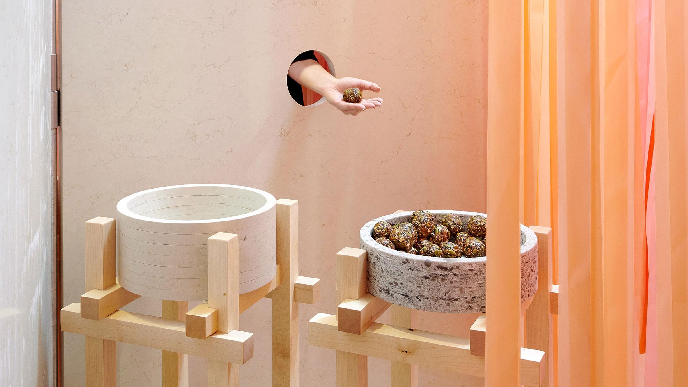 Marije Vogelzang's sensorial installation for Caesarstone