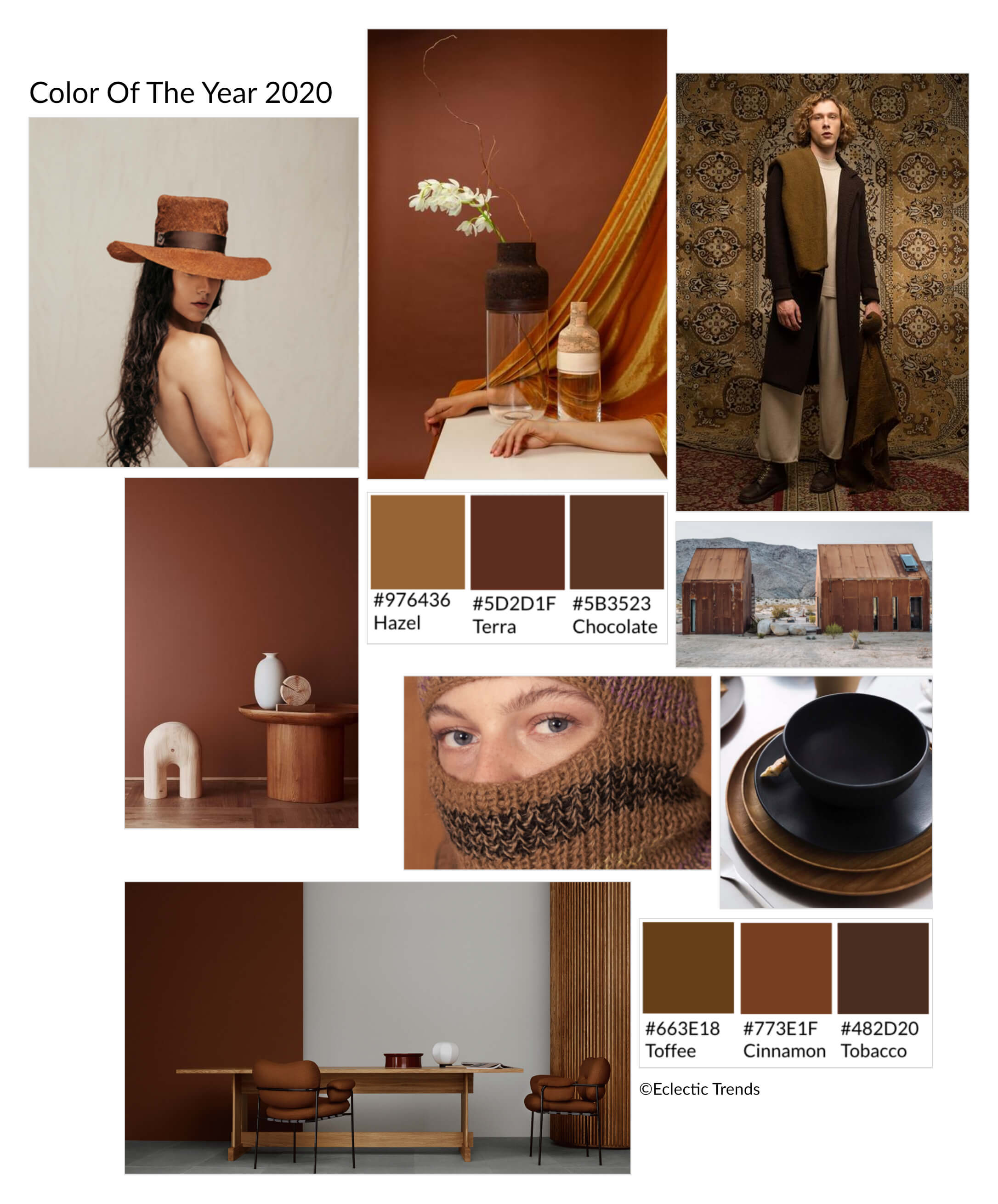 Color Of The Year 2020 Universe Of Brown Eclectic Trends