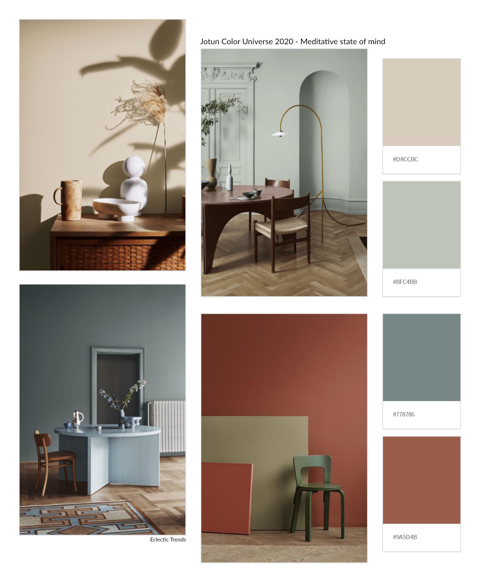 The best of 2020 - Color Universe 2020 Jotun Meditative State Of Mind | Eclectic Trends
