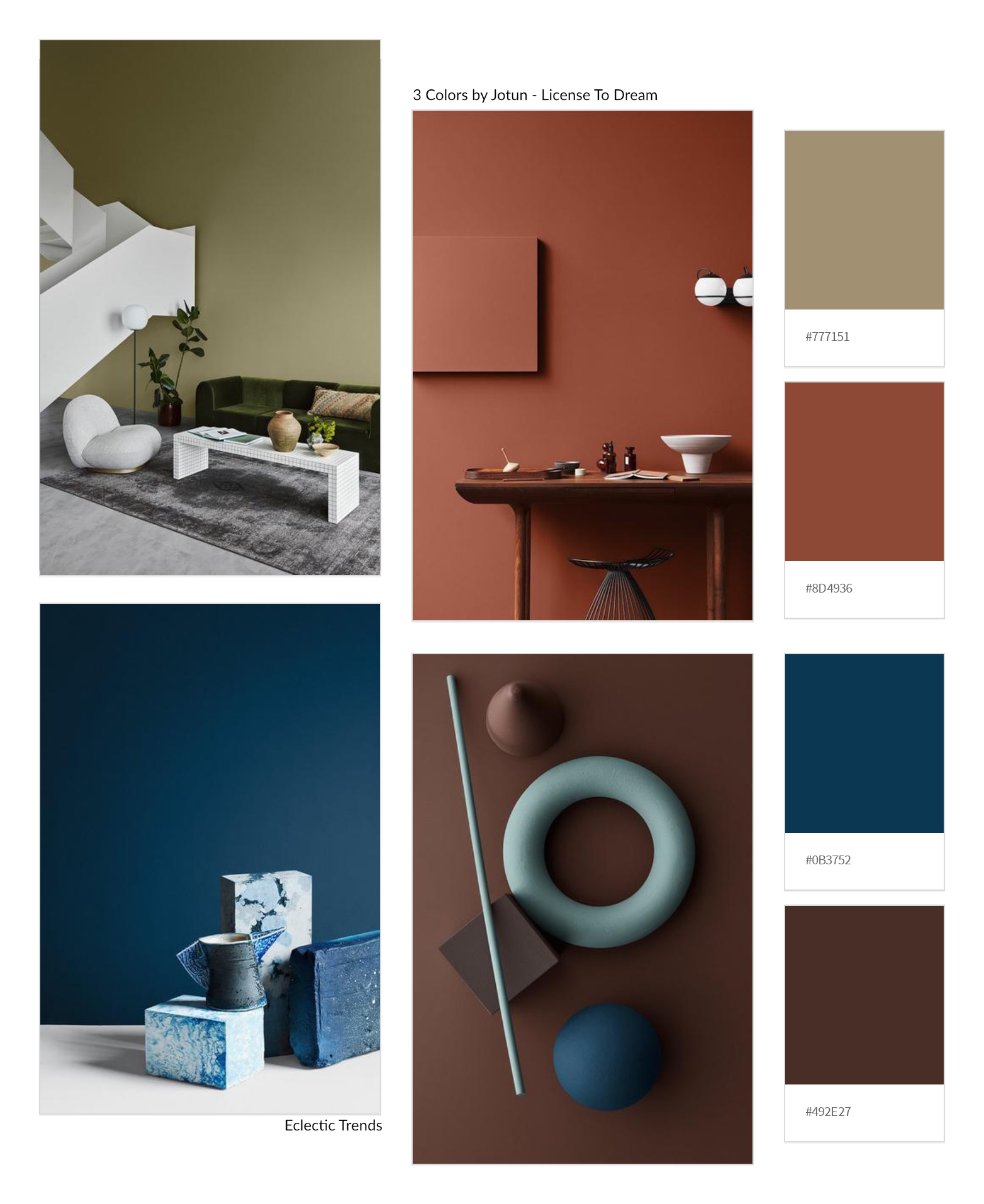Color Universe 2020 Jotun Meditative State Of Mind | Eclectic Trends