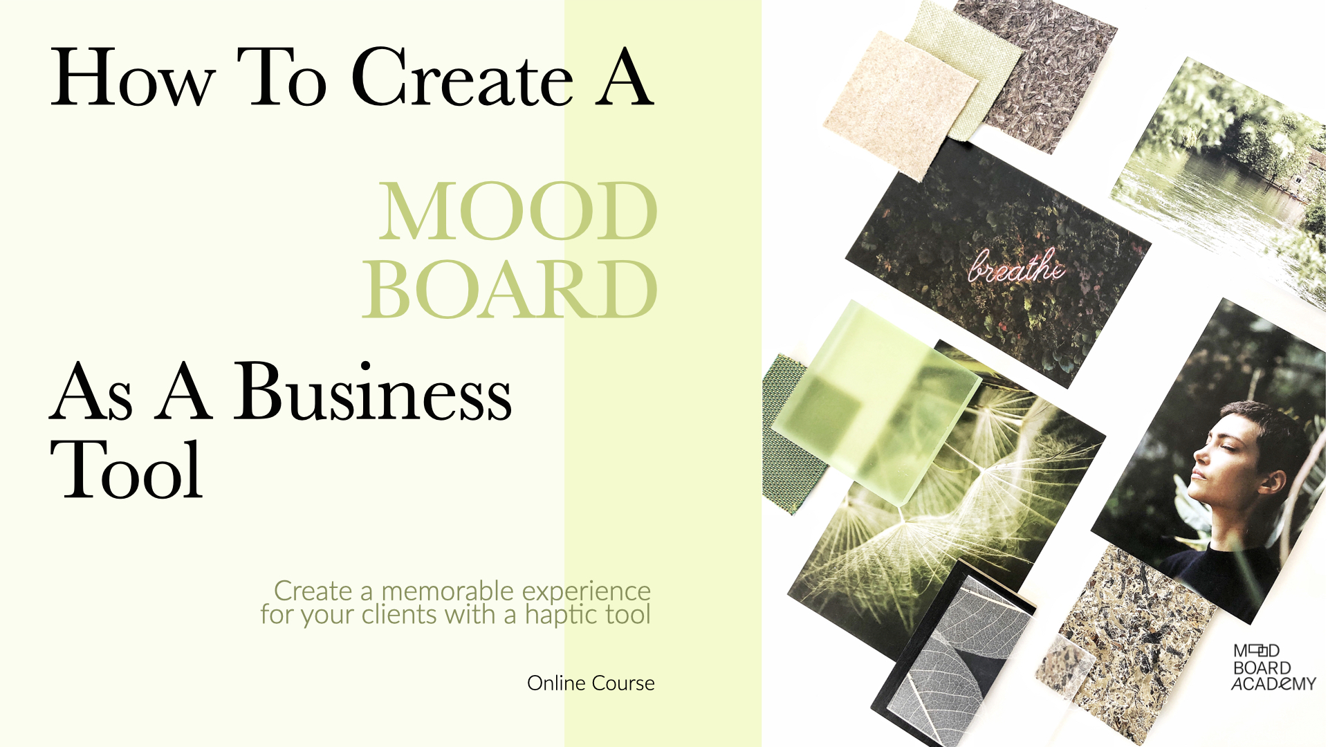 Online Course Mood Board Academy