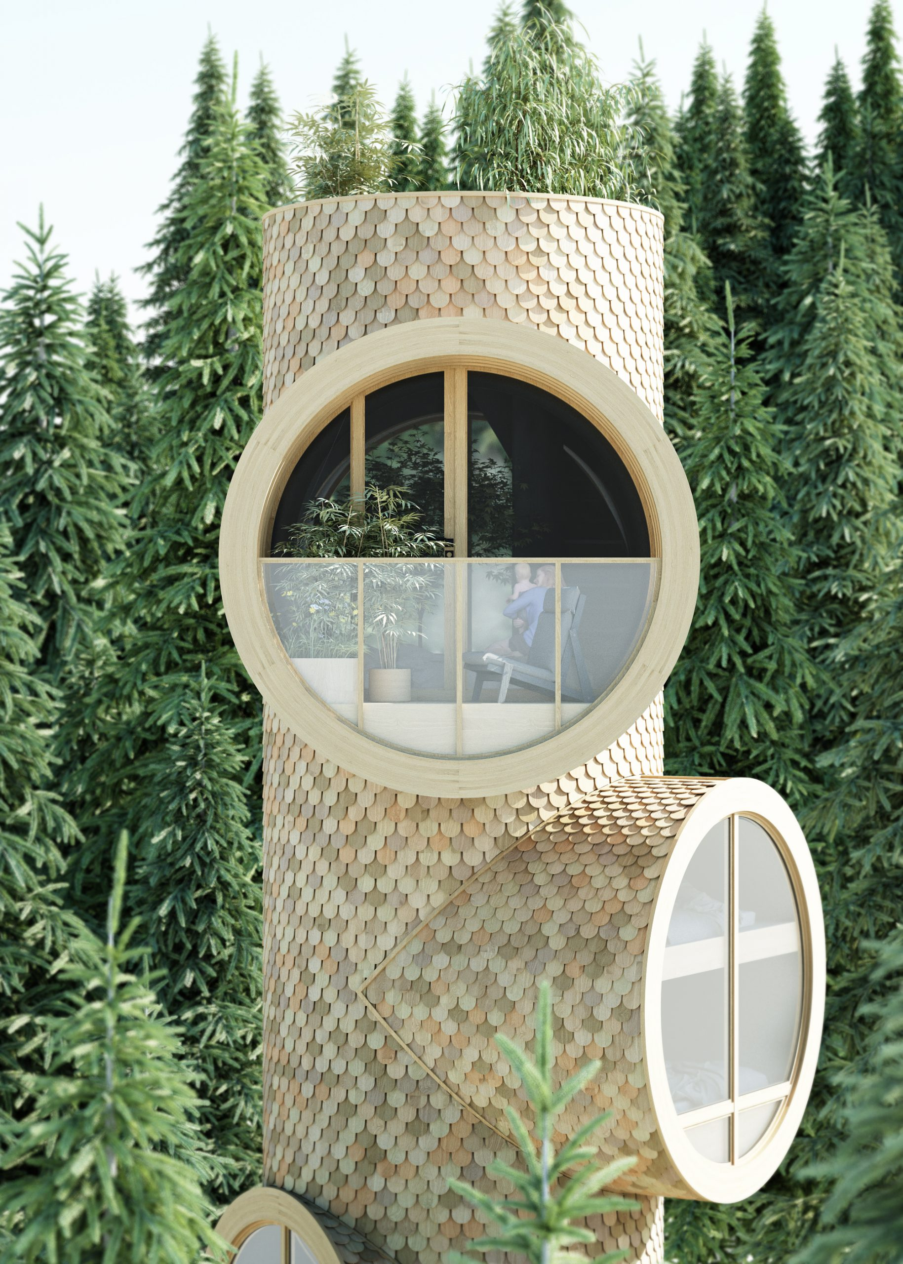 Modular Tree Houses by Precht | Eclectic Trends