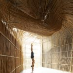 3D modeling shaping yoga pods made of rattan