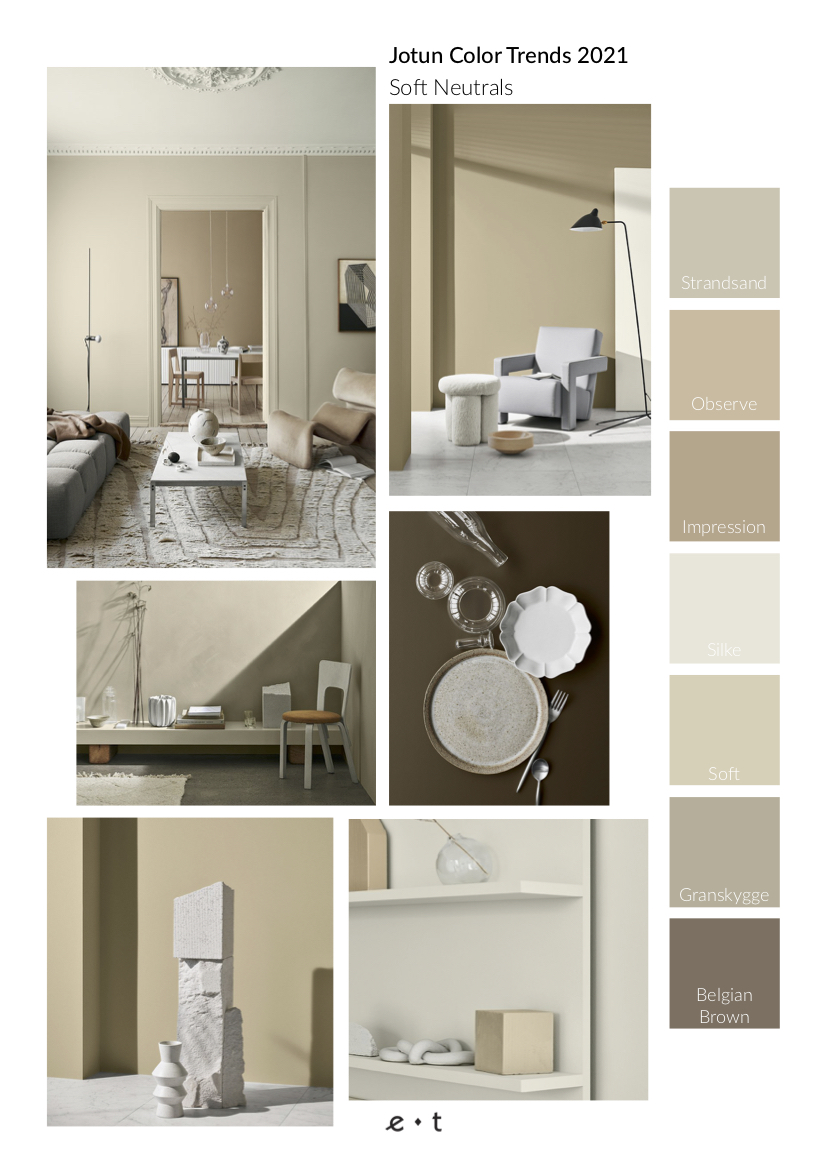 4 Color Trends 2021 By Jotun-Soft Neutrals-Mood Board-Eclectic Trends