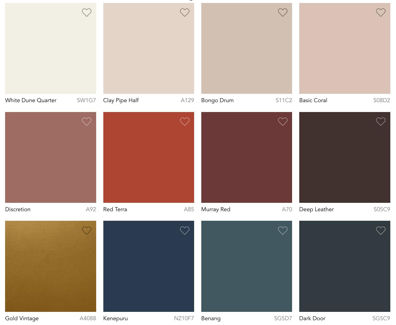 Color Trends Flourish Palette 2022 Dulux Australia